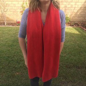 Athleta Wool Cashmere Red Scarf